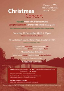 Oratorio: Messiah & Serenade to Music (Kingston) @ Kingston Parish Church | Kingston upon Thames | England | United Kingdom