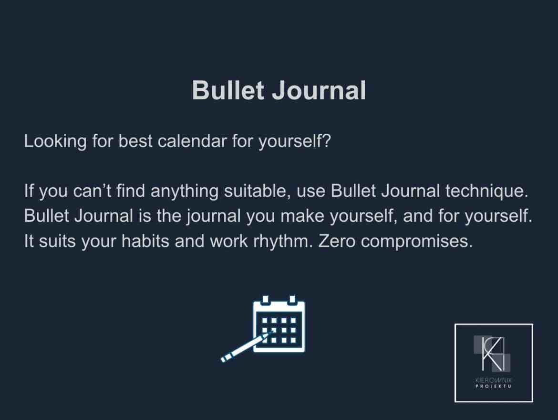 Wskazówka: Bullet journal