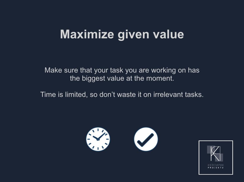 Wskazówka: Maximize given value