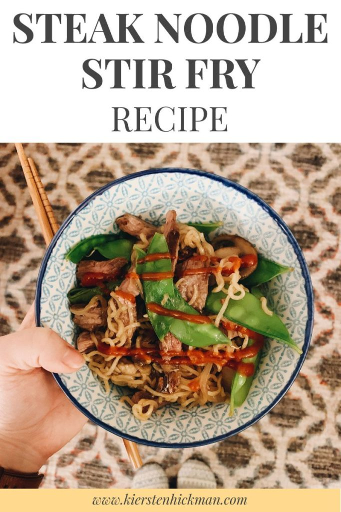 steak stir fry recipe pinterest card