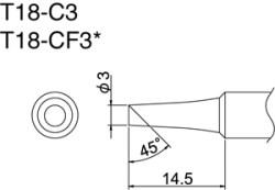 Hakko T18-C3 Solder Tip