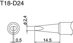 Hakko T18-D24 Solder Tip