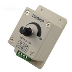 QL-DIM-A LED Dimmer, Rotary Knob DC 12-24V 8A