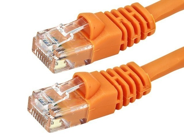 CAT5E Patch Cable Snagless Molded, Orange