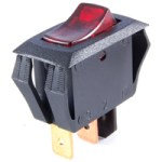 NTE 54-517 SWITCH ROCKER ILLUMINATED MINIATURE SNAP-IN SPST OFF-NONE-ON 16A