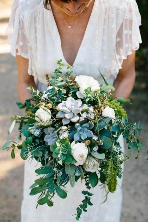свадебный-букет-суккуленты