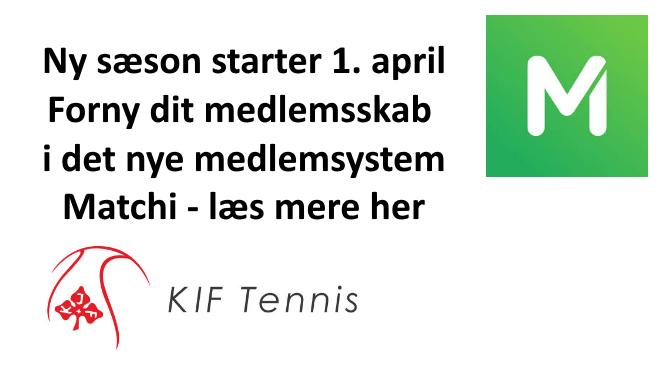 Nyt medlemssystem og ny sæson 1. April