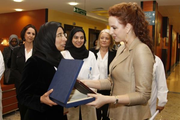 بالصور.. الأمير لالة سلمى في الدوحة