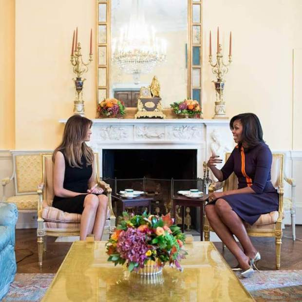 ميشيل أوباما وميلانيا ترامب.. بعيدا عن السياسة