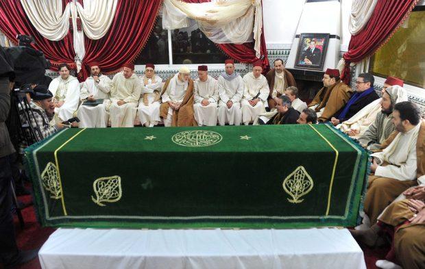 مداغ.. الهمة والزناكي وحصاد والتوفيق في جنازة الشيخ حمزة