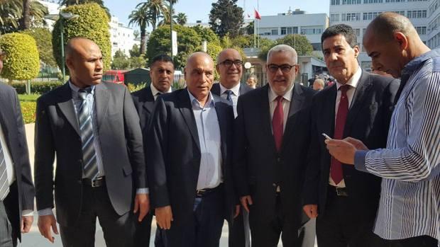 بالصور.. ابن كيران مع شباط في حفل تأبين امحمد بوستة