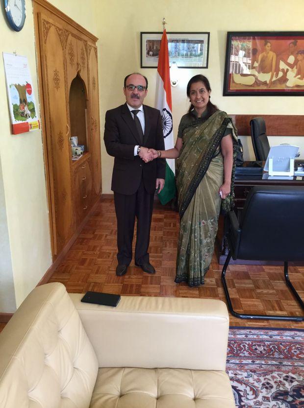بعد سفيرة كندا.. العماري يستقبل سفيرة الهند