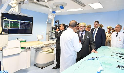 المستشفى العسكري الدراسي محمد الخامس/ الرباط.. الملك يدشن مركز طب القلب