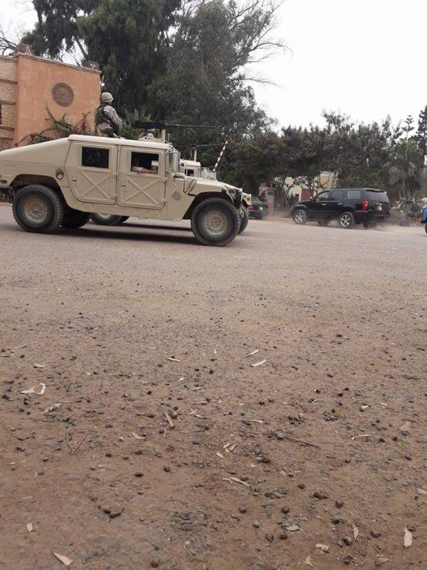 لتصوير فيلم أمريكي.. مدرعات حربية في أكادير!