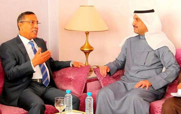 بالصور.. مخاريق يستقبل المدير العام لمنظمة العمل العربية