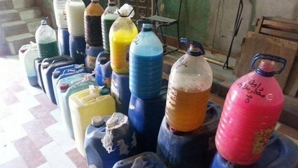 فاس.. حجز 10 آلاف لتر من مواد التنظيف المزيفة