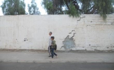 إحشاشن/ أكادير.. سور مدرسة مهدد بالانهيار