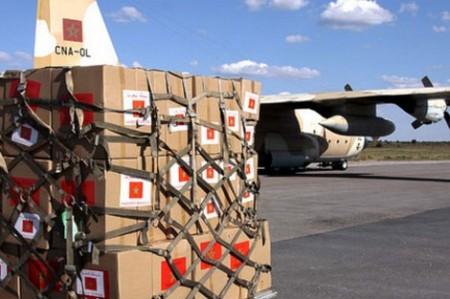 خيام وأغطية ومواد غذائية.. المغرب يرسل 30 طنا من المساعدات إلى مدعشقر