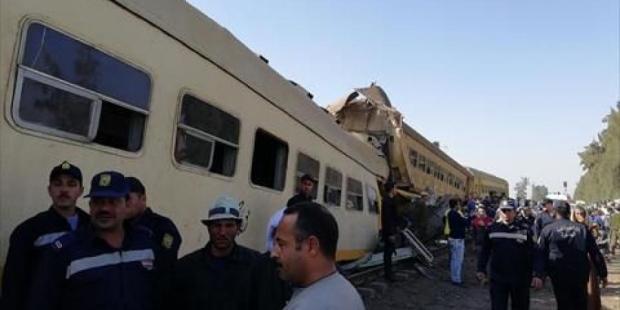 16 قتيلا ..حادث تصاد قطارين في مصر