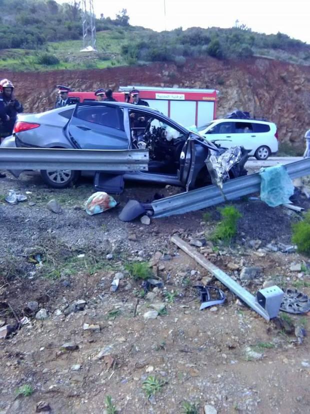 حادثة سير.. 4 قتلى بين تطوان وواد لاو (صور)
