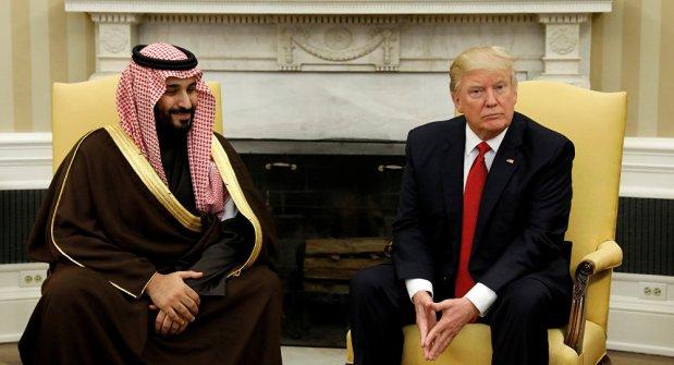 ترامب: السعودية دولة ثرية جدا وستعطي أمريكا بعضا من هذه الثروة!!