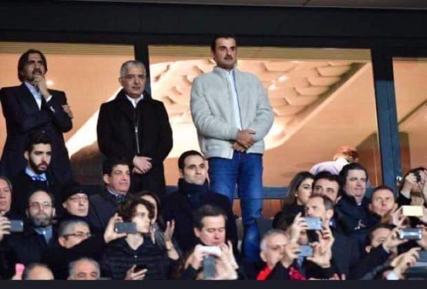 ملعب حديقة الأمراء.. بكوري كيتفرج حدا أمير قطر وديفيد بيكهام! (صور)