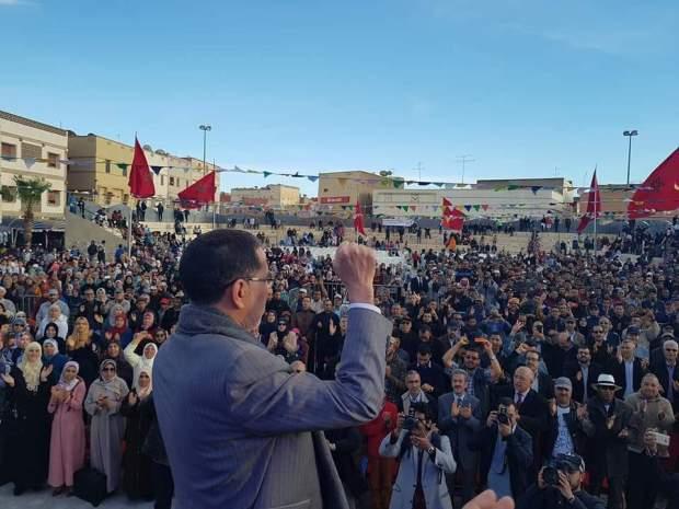 العثماني عن احتجاجات جرادة: التظاهر السلمي حق مكفول… ولا يمكن أن نسمح بحرق سيارات الشرطة وضرب رجال الأمن
