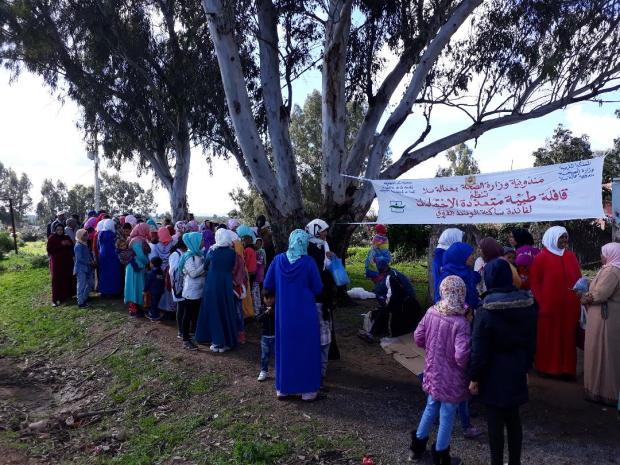 استفاد منها حوالي 1200 شخص.. قافلة طبية في جماعة السهول في سلا (صور)