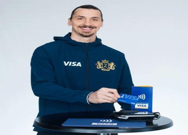 """مع اقتراب كأس العالم..  إبراهيموفيتش داير الدعاية لـ""""فيزا"""""""