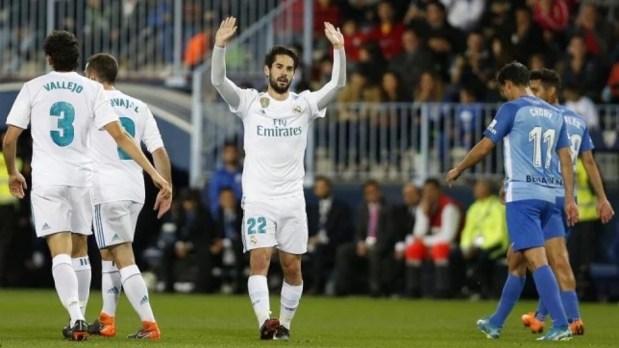 بغياب كتيبة من نجومه.. ريال مدريد يفوز على ملقا