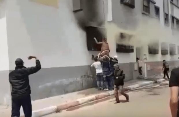 بالفيديو من كازا.. حريق بسبب شارجور