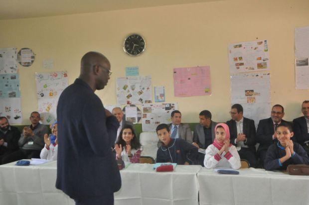 مع تلاميذ مراكش.. نجم الكرة الفرنسية تورام يعلن دعم موروكو 2026