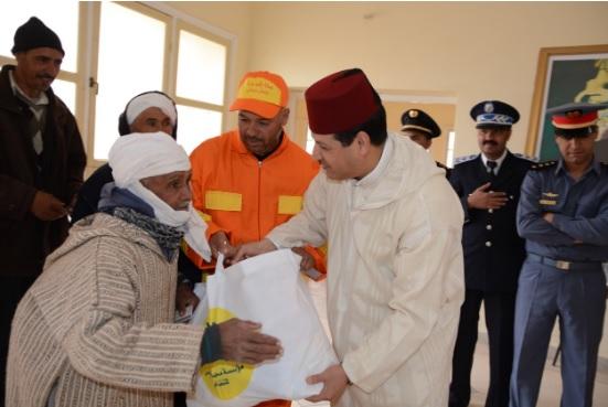 7000 مستفيد.. توزيع دعم غذائي في إقليم جرادة (صور)