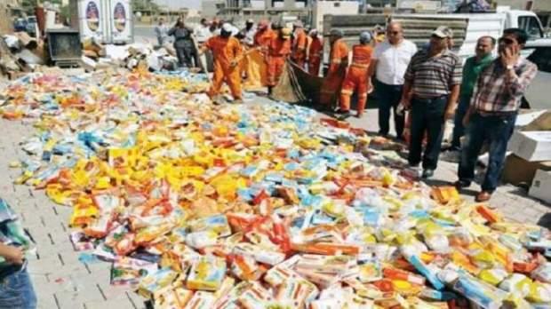 إتلاف 422 طن من المواد الفاسدة.. مكتب السلامة الصحية خدام على تيساع
