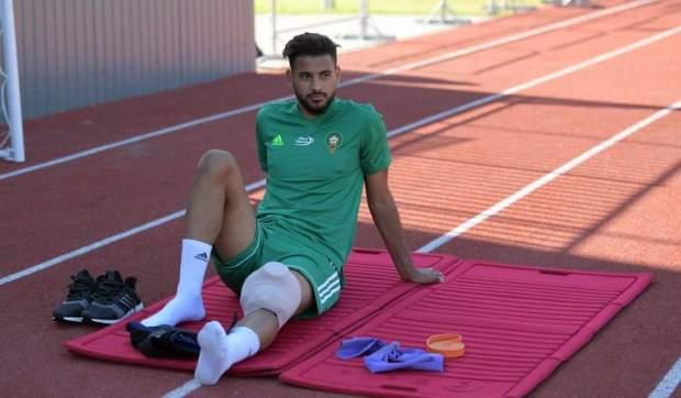 ما غيلعبش مقابلة إسبانيا.. يوسف آيت بناصر يغادر معسكر المنتخب في روسيا