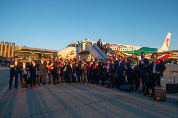 كيوجدو لينا على تيساع.. إيران أول منتخب يصل إلى روسيا (صور)