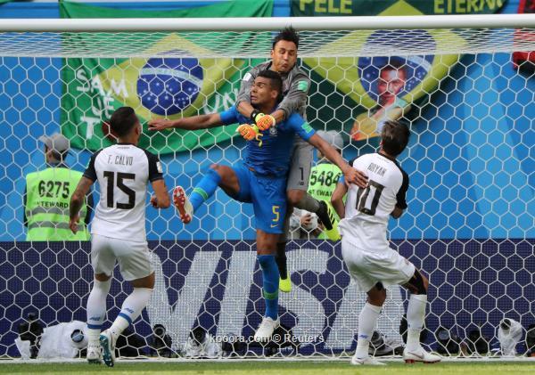 في الوقت الميت.. البرازيل تتغلب على كوستاريكا