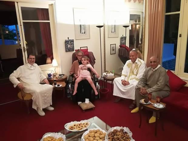 بالصور.. سعد الدين العثماني في بيت عبد الكريم الخطيب