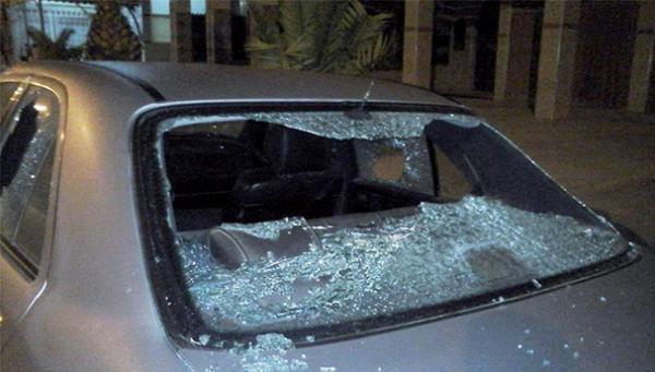 أمن بني ملال: حقيقة تكسير سيارة مهاجر مغربي