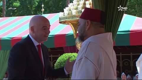بعد حضوره احتفالات عيد العرش.. تصريح رئيس الفيفا
