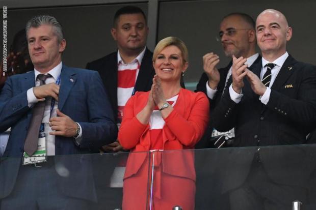 رئيسة كرواتيا: أنتظر مباراة النهاية بفارغ الصبر وسأحضر في الملعب