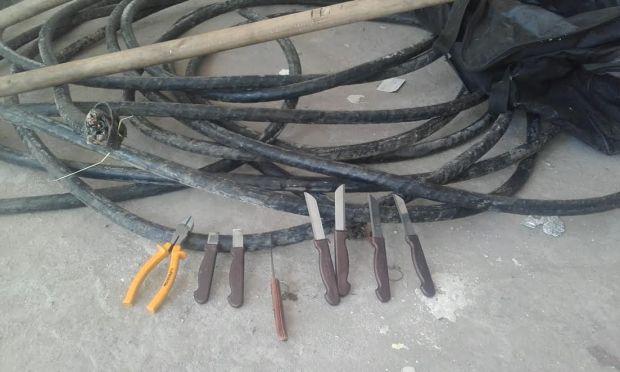 المتزعم حصل.. درك بوسكورة يفكك عصابة لسرقة الأسلاك الكهربائية (صور)