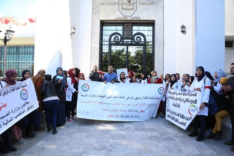 شد الحبل متواصل مع وزارة الصحة.. الممرضين باغيين يدوزو الصيف فالاحتجاجات