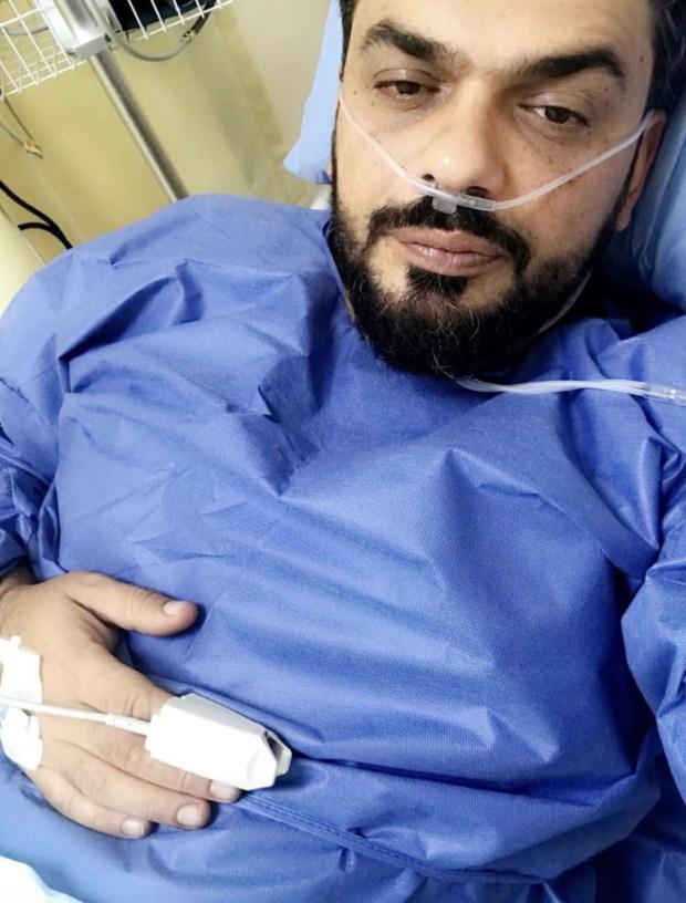 من المستشفى.. زوج بطمة يشكر مسانديه