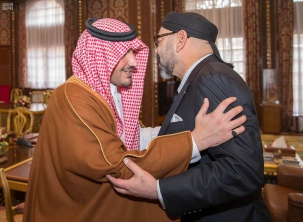 بالصور.. تفاصيل عن استقبال الملك لوزير الداخلية السعودي