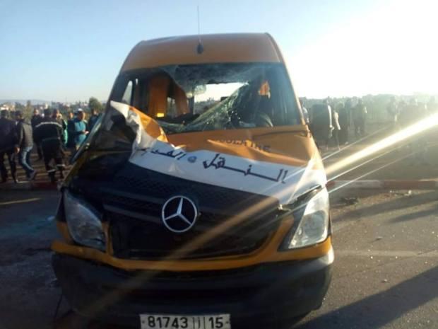 بالصور من مكناس.. إصابة تلاميذ في حادث لحافلة للنقل المدرسي