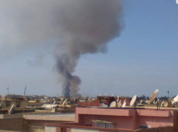 بالفيديو من المحمدية.. حريق كبير في مصنع للأغطية