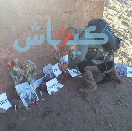 بالصور من مكان مذبحة شمهروش.. جمعويون وسياح يستنكرون قتل السائحتين ويشعلون الشموع من أجل الحياة