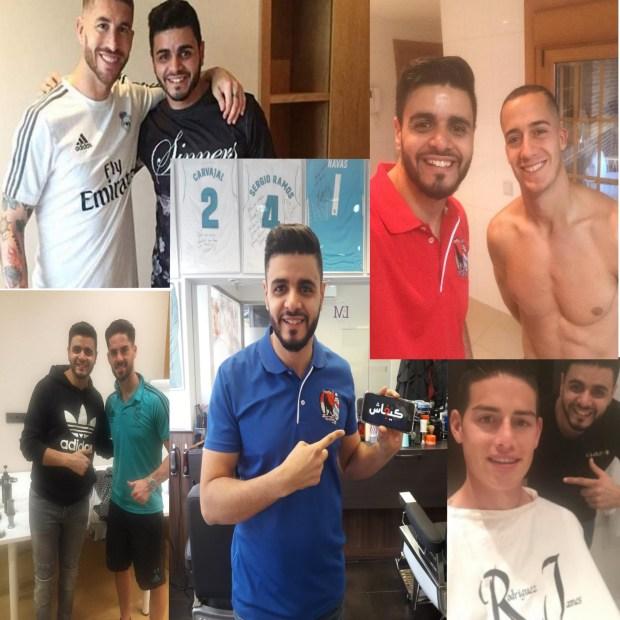 العربي ولد تطوان.. قصة حلاق نجوم ريال مدريد! (صور)