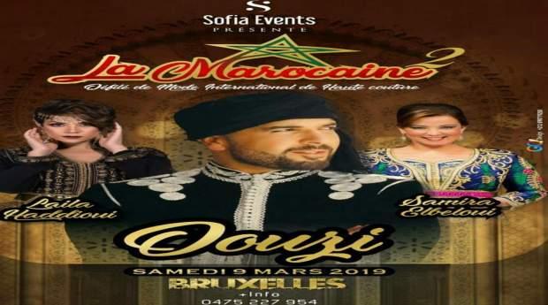 """في بروكسيل.. الدوزي و""""صوفيا إفنت"""" يحتفيان بالزي المغربي"""